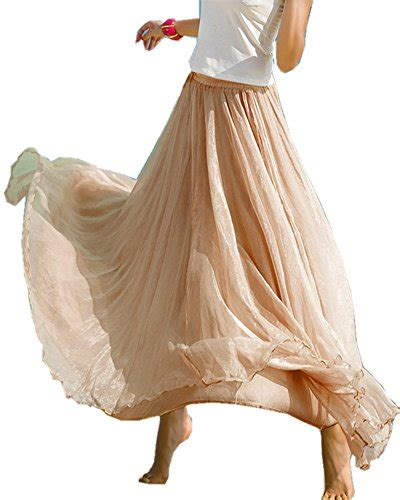 Nafisa Maxi Abu Al mullsan retro vintage layer chiffon pleat maxi skirt dress a beige buy