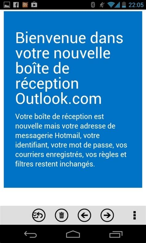 play store outlook outlook se met 224 jour sur le play store