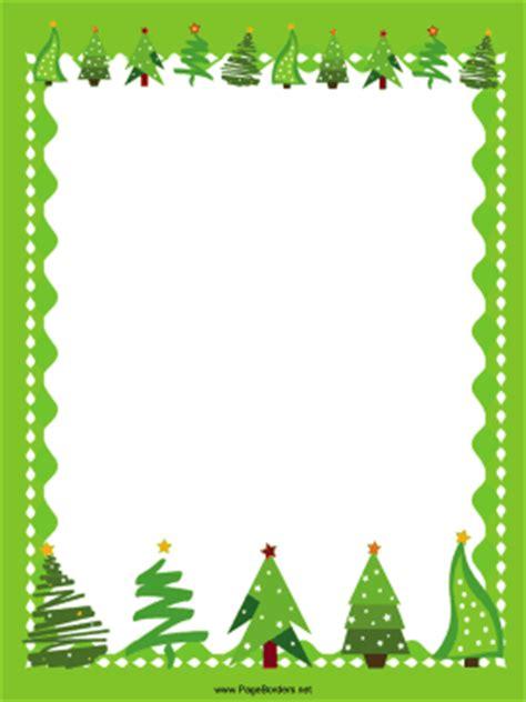 green trees christmas border