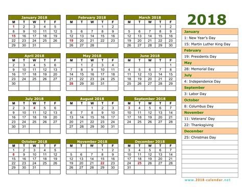 printable calendar 2018 large numbers 2018 calendar with week numbers printable download free