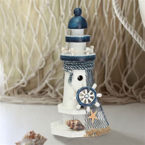 mediterranean style creative big size wooden lighthouse mediterranean wooden light house tower nautical starfish