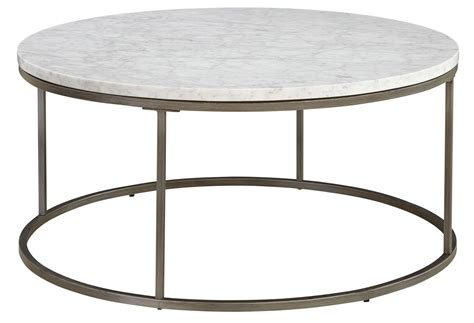 Round Marble Top Coffee Table Alana Acacia Marble Top Round Coffee Table 836 075 Mbw