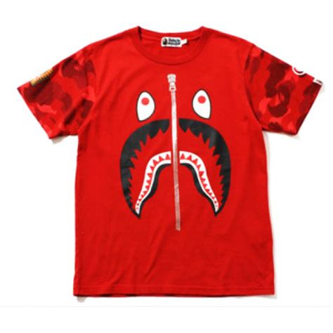 Kaos Tshirt Bape X Undefeated 1 a bathing ape quot bape color camo shark quot t shirt collection