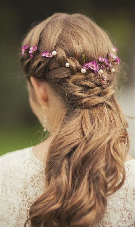 wedding hairstyles half up half down with flowers 30 fashionable half up half down hairstyles to make you