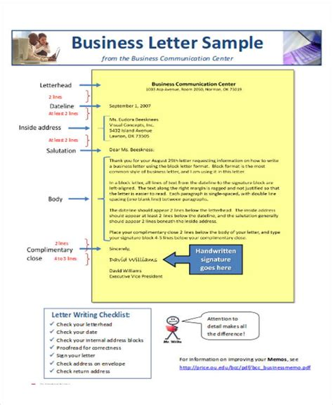 layout and design of a business letter sle business letter layout 8 exles in word pdf