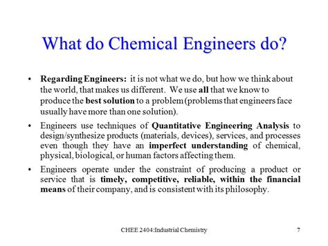 design engineer what do they do a history of chemical engineering ppt download