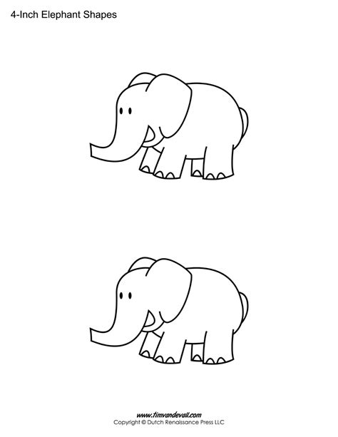 free printable elephant art tim van de vall comics printables for kids