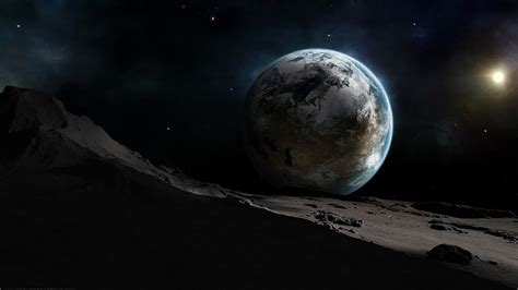 earth  moon wallpapers  hd wallpapers
