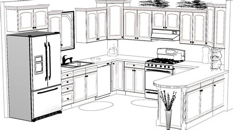 kitchen design sketch kitchen design sketch awesome 13988 02drawing