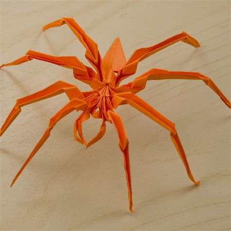 How To Make A Origami Spider - origami spider folded spider and origami