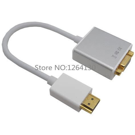 Hdmi In To Vga Out With Audio Monitor Cable Howeii aliexpress buy aluminium hdmi to output vga 1080p hd audio cable converter adapter for