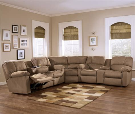 sectional sofa ashley furniture eli cocoa reclining sectional sofa group with pillow