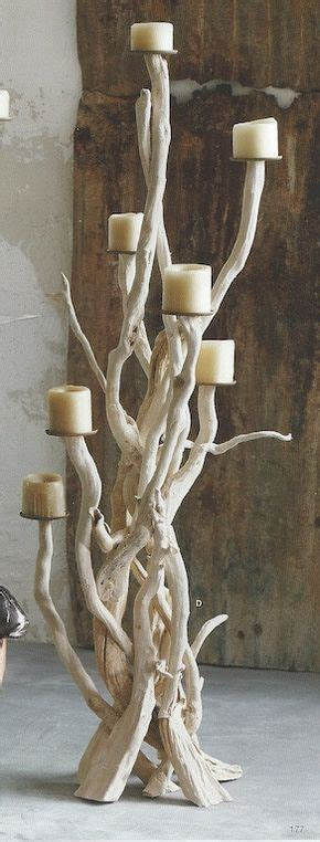 candelabros de yeso roost driftwood candelabra driftwood art pinterest