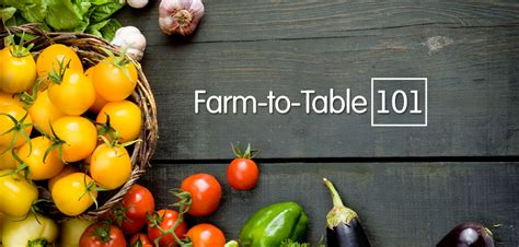 what the heck does farm to table even