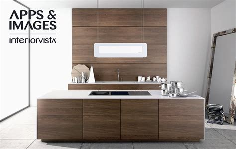 modern walnut cabinets contemporary kitchens collection from cuisines morel