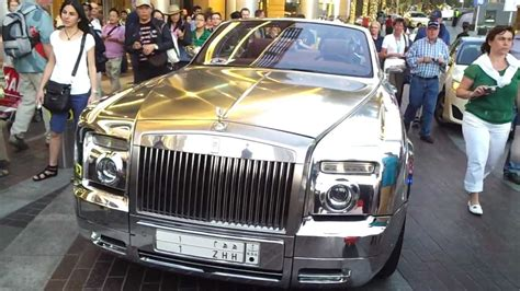 rolls royce chrome chrome rolls royce at dubai mall 16 02 2013 youtube