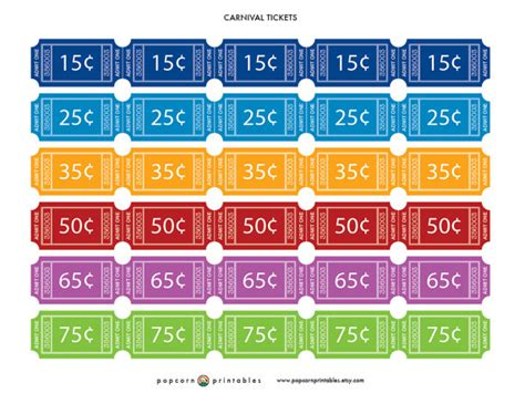 printable carnival tickets free carnival tickets printable images