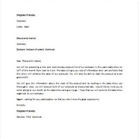 Sle Letter For Product Demonstration Formal Official And Professional Letter Templates Part 2
