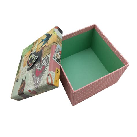 unique durable christmas gift cardboard box with butterfly