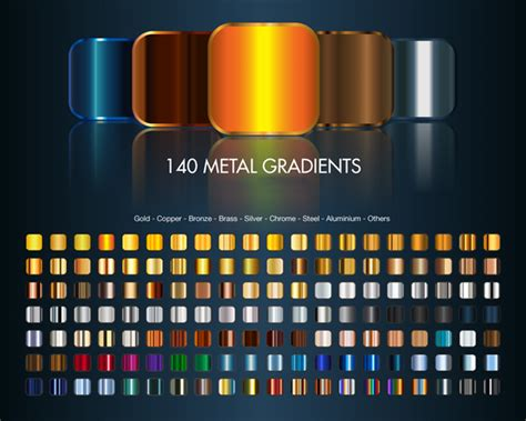 Most Popular Paint Colors 2016 by 500 High Quality Free Photoshop Metal Gradients Themecot