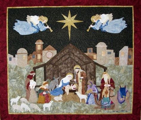 quilt pattern nativity scene nativity quilt wall hanging 49 x 55 quot pattern at seams