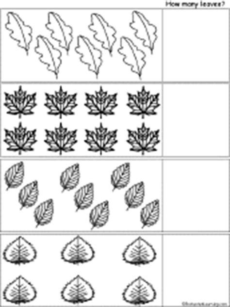 leaf pattern worksheet for kindergarten simple counting worksheets at enchantedlearning com