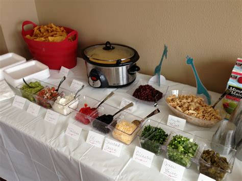 taco bar topping ideas nacho bar how about a quot make your own nachos quot bar at your