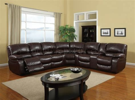 leather reclining sectionals u8122 sectional sofa reclining burgundy bonded leather 3pc