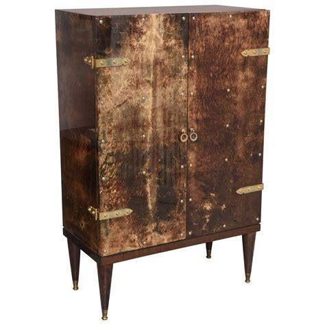 aldo tura bar cabinet rare mid century dry bar cabinet in goatskin by aldo tura