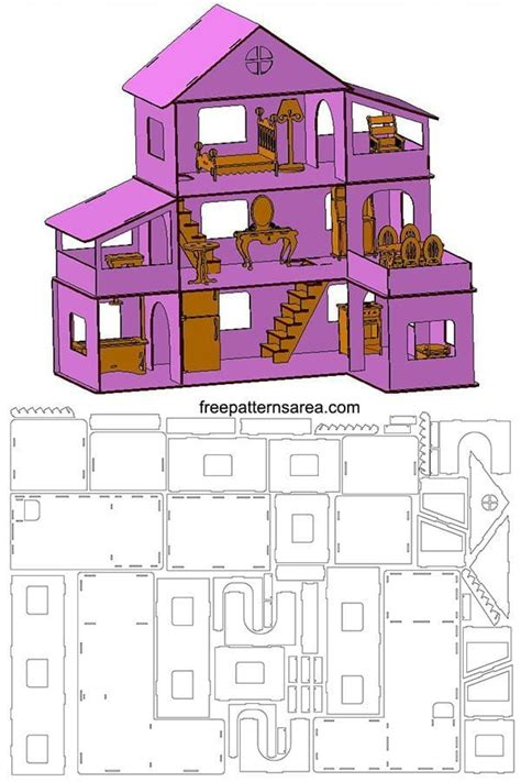 dollhouse template  laser cut woodworking