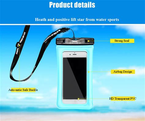Remax Waterproof Bag 20 Meter For Smartphone 5 Inch Rt 8jwd3m Black remax rt w2 plus auto untie buckle waterproof touch screen airbag phone bag for phone 6 inch