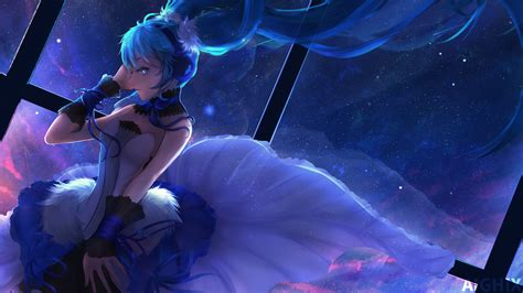 anime girl blue wallpaper anime girl kawaii blue hair wallpaper by aighix on deviantart