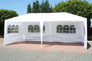 Party Gazebo by New 3m X 6m White Waterproof Outdoor Garden Gazebo Party