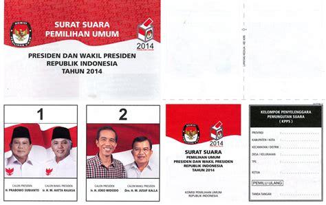 surat suara dalam pemilu indonesia ballot papers hompimpa id