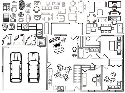 floor plan symbols illustrator free floor plan elements for illustrator 187 designtube