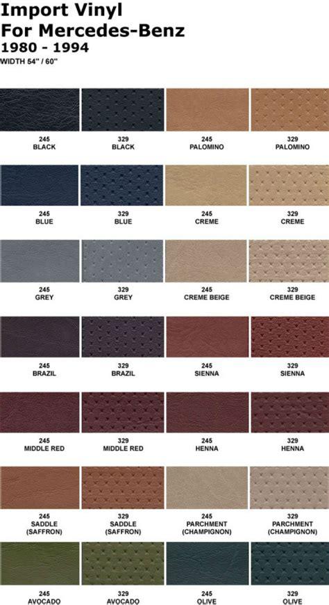 Mercedes Interior Color Codes by Mercedes Sl R107 450sl 350sl 380sl 560sl Mb Tex Jumpseat