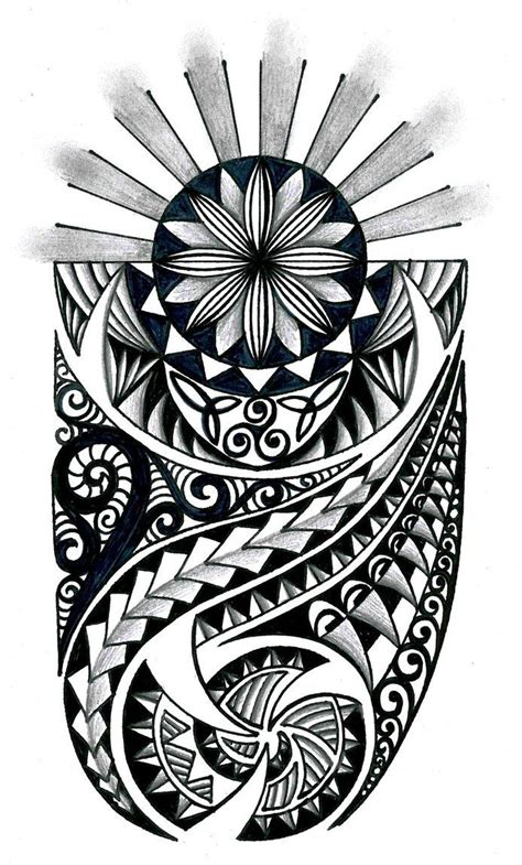 polynesian tattoos design tongan tribal drawings polynesian tribal design with
