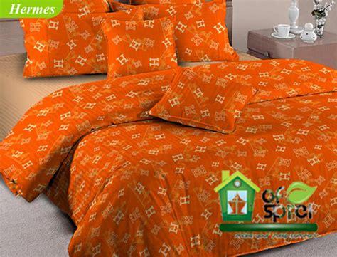 Sprei Jepang Hermes Uk160x25x200 sprei katun cvc panca fortuna hermes orange houseofspreiku