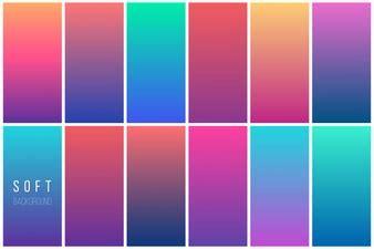 golden gradients collectio vector