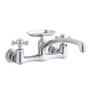 kohler k 159 3 antique wall mount kitchen sink faucet