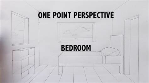 draw   bedroom   point perspective step  step tutorial youtube