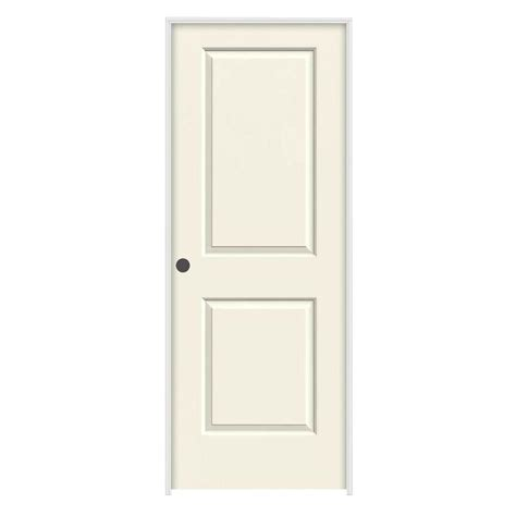 32 Prehung Interior Door by Jeld Wen 32 In X 80 In Molded Smooth 2 Panel Square