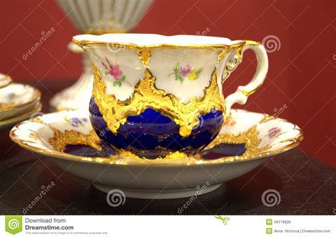 Beautiful Decorated Coffee Cup Stock Photo   Image: 49176826