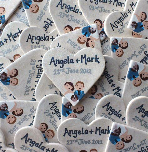 Personalised Wedding Favours personalised wedding favours wedding cake toppers