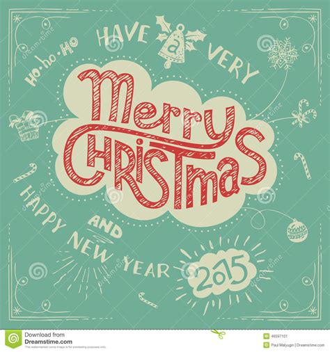 doodle merry merry doodle greeting card stock vector image