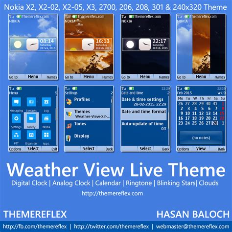 live themes download for nokia x2 weather view live theme for nokia x2 00 x2 02 x2 05 x3
