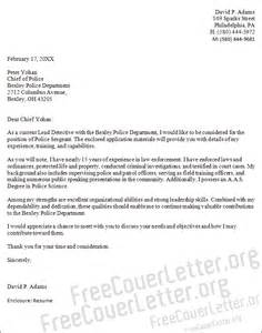 Enforcement Interest Letter Sergeant Cover Letter Sle