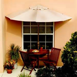 half patio umbrella half circle umbrella table and chairs the green
