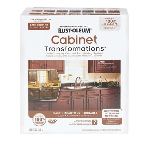 rustoleum kitchen cabinet paint kit rust oleum cabinet transformations small cabinet kit in