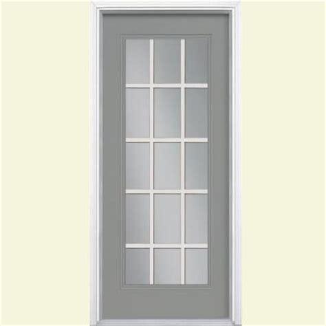 15 Lite Exterior Door Masonite 32 In X 80 In 15 Lite Painted Steel Prehung Front Door With Brickmold 34962 The